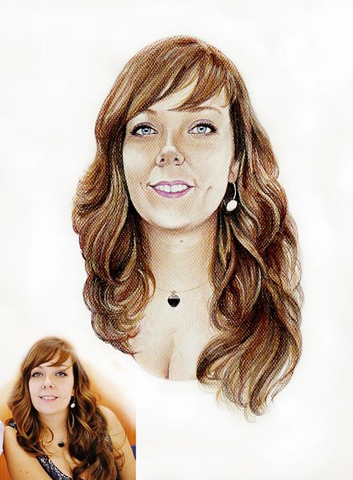 Retrato-color-lápiz-Judith-foto-modelo