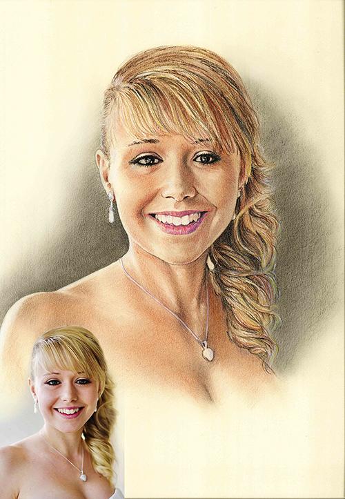 Retrato-color-lápiz-novia-2-foto-modelo